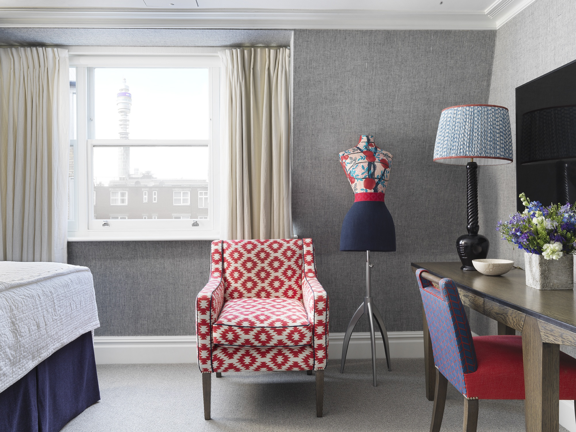 Fabulous Creating Interest In Small Rooms At Charlotte Street Hotel Machost Co Dining Chair Design Ideas Machostcouk